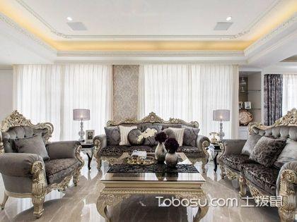 248平米欧式大平层装修效果图,2017四房两厅装修案例