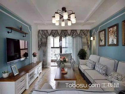 180平三室一厅装修,打造蔚蓝色的港湾