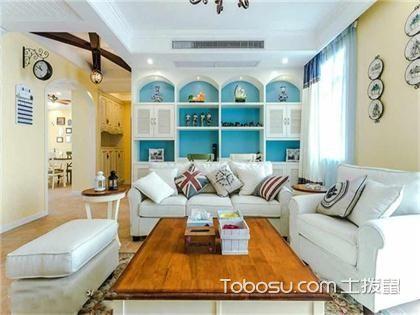 120平米地中海风格三居婚房装修,幸福的地中海婚房