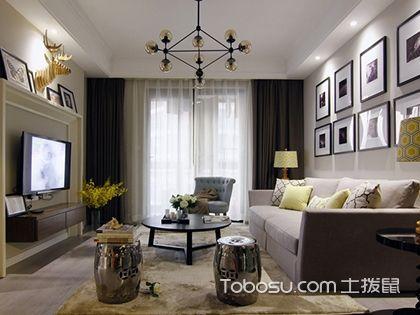 珠海90平米简美风格效果图,灰色调的家居环境别有深意
