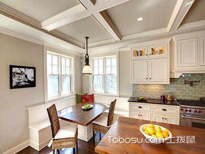 最新欧式厨房吊顶装修效果图,浪漫情调代替油污