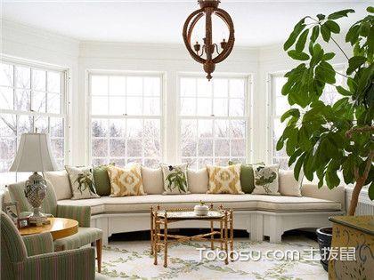 客厅飘窗窗帘效果图赏析,带你发现不一样的窗帘美