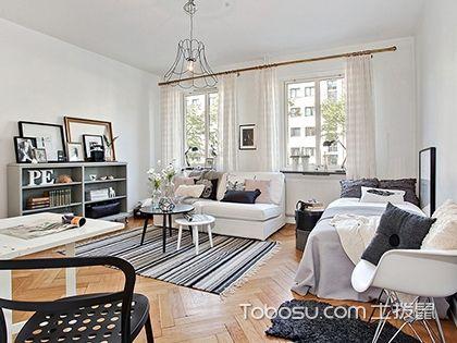 20平米单身公寓装修效果图,小户型装修该有的功能一样都不少