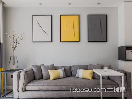 现代简约客厅沙发装饰画,打造简约但不单调的客厅背景墙