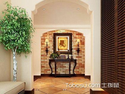 玄关过道背景墙效果图,四款特色玄关背景墙装修设计欣赏