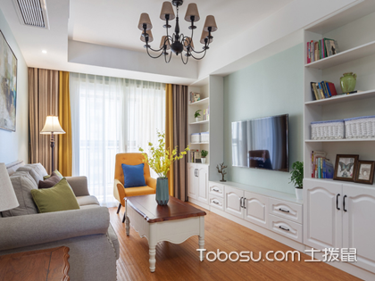 小美式风格客厅效果图,小户型同样可以装出美美的美式风格