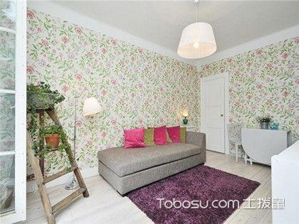 客厅壁纸怎么搭配?客厅壁纸搭配案例为您解析