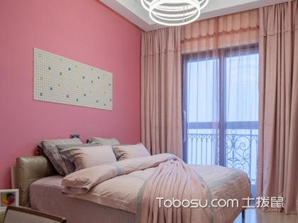 60平米小跃层装修图片,卧室的粉色系装饰闪瞎你的眼