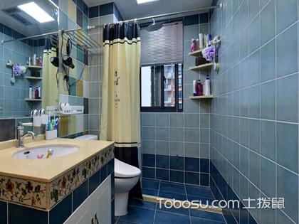 小卫生间挂浴帘效果图,带你告别湿漉漉的卫生间环境