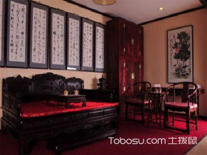 雅致的罗汉床摆放,让家居装修更高大上