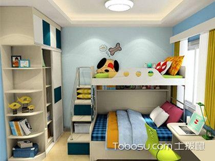 儿童房上下床装修效果图,二胎宝宝的房间不用困扰!