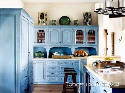 地中海风格橱柜 ,让你在跳跃的环境中烹饪