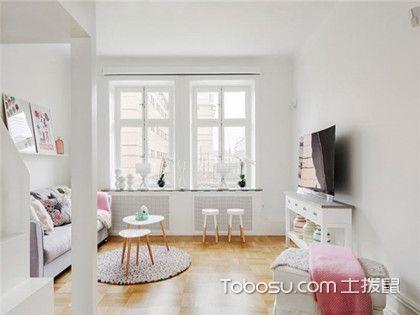 40平小户型北欧风格装修效果图,粉白色收纳公寓设计