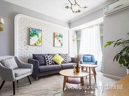 房子北欧简约风格装修设计,89平米空间给人视觉上的大户型感觉