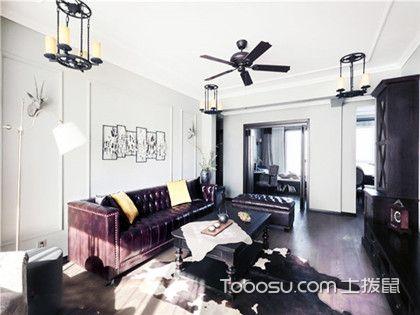 130平二手房装修,三居室美式风格装修展现大气雅致感