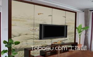 全屋定制电视墙的图片