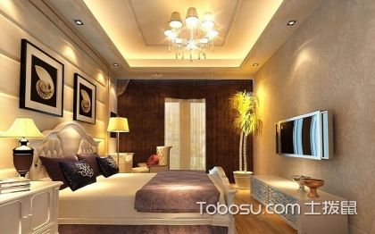 卧室石膏板吊顶效果图,卧室石膏板吊顶装修案例