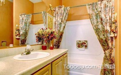 2018最新小户型卫生间浴帘效果图,卫生间浴帘效果图案例