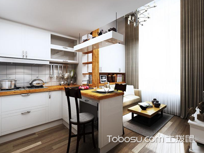 小户型开放式厨房装修案例,打造高颜值厨房开放空间