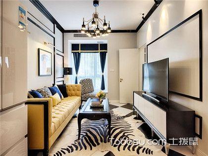 金华65平米房装修预算,两室两厅美式风格装修案例