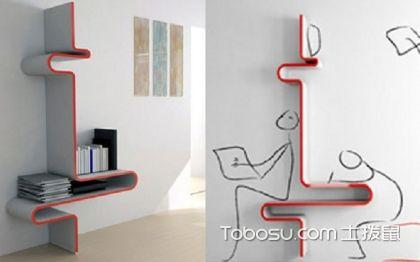 墙上创意书架效果图案例,告别中规中矩的书架选择