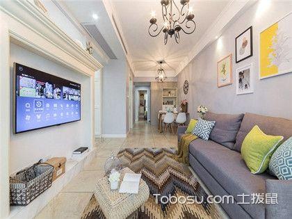 86平米装修预算费用案例,美式风格两室两厅装修