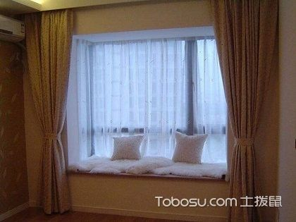 飘窗窗帘效果图表达,飘窗窗帘如何选择