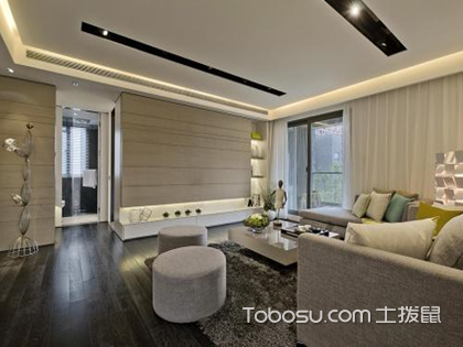 波打线效果图客厅贴法——波打线客厅的贴法
