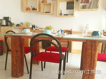 厨房抽拉式收纳早餐桌设计,便捷的餐桌设计