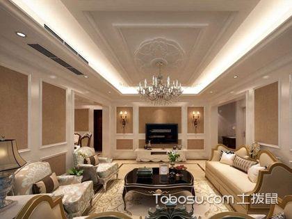 石膏板客廳吊頂造型圖片,客廳的石膏板吊頂如何設計