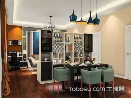 客厅和餐厅隔断效果图用什么材料好?客厅和餐厅隔断要注意什么