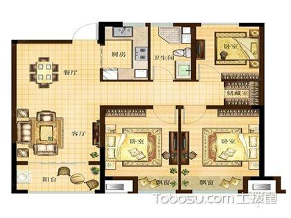 这几款经典三室两厅户型图,让你选户型不再发愁!