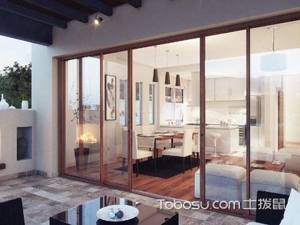 客厅推拉门效果图,客厅安装推拉门有什么好处