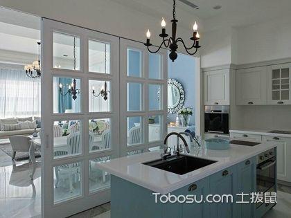 厨房隔断装修效果图,不同形式的厨房隔断设计