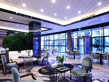 大厅吊顶效果图,私人会所的大厅吊顶设计案例