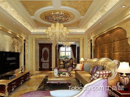 客厅顶部装修效果图,大气的方形客厅吊顶造型欣赏
