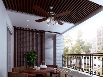 大户型阳台生态木吊顶装修效果图,装修吊顶不用愁