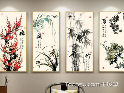 中式客厅中式背景墙挂什么画好,带有哪些元素更好