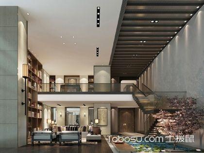 别墅中空客厅效果图,别墅挑空客厅设计案例