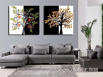 客厅装饰画挂什么好?黑白装饰画是不错的选择