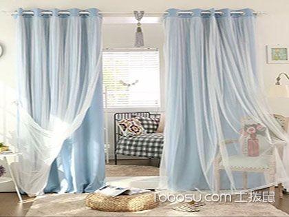 双层窗帘纱跟布怎么挂,五种风格任你选