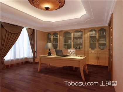 书房装修设计,书房家具的选择及色彩搭配