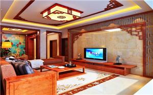 【中式客厅吊顶】中式客厅吊顶设计_特点_价格_效果图
