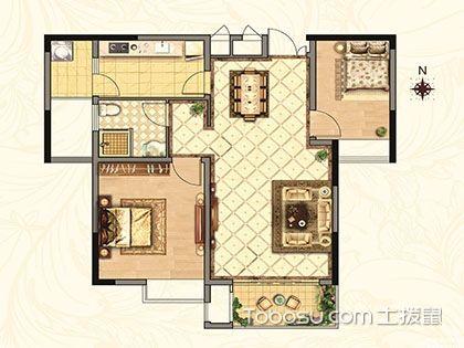 2018年55平米两室一厅户型图,你要想要的都在这