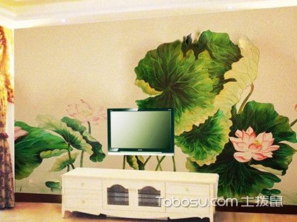 墻體手繪電視背景墻,讓您的墻壁不再單調