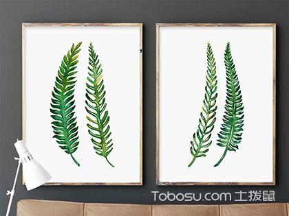 用树叶diy制作卧室装饰品