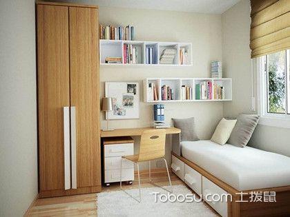 敞开式书柜设计好吗?小户型家庭书房装修