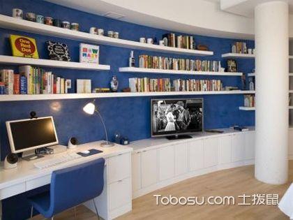 书房书柜背景墙如何装修设计?不同风格书柜背景墙装修图片