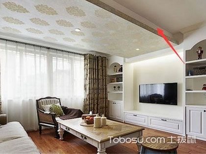 客厅吊顶有横梁怎么装修?如何设计可以增加美感?