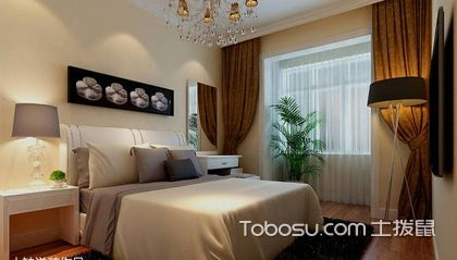 90平米装修样板间卧室、卫浴装修案例